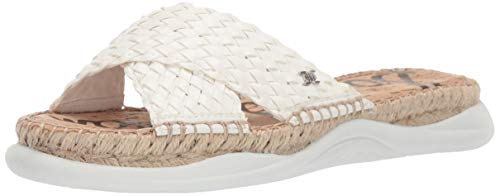 Woven Leather Espadrilles - Sam Edelman Women's Jovie Sandal, Bright White, 10 M US