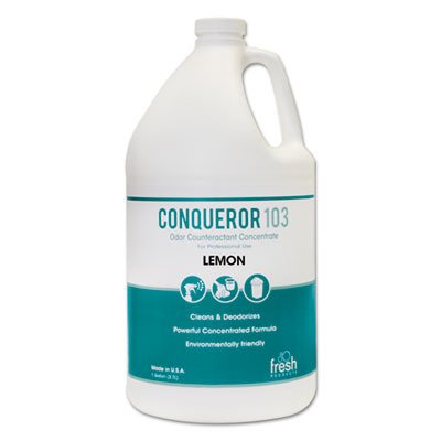 Fresh Products 1WBLE Conqueror 103 Odor Counteractant Concentrate, Lemon, 1gal (Case of 4)