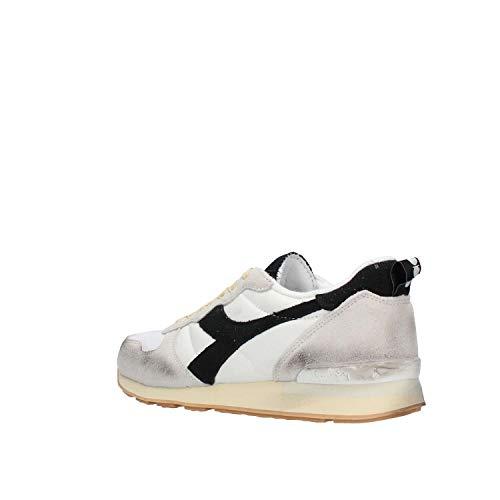 Uomo Bianco Camaro nero Diadora Sneaker Bianco 5Eqzn