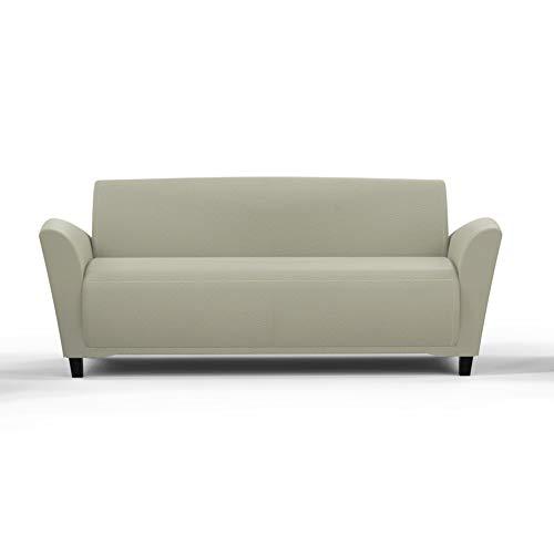 Mayline VCC3BLKA Santa Cruz Leather Lounge Sofa, Black Paint, Almond Leather (Furniture Santa Cruz Office)