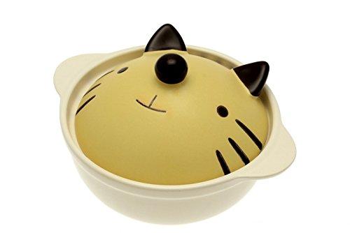 Little Tabby Cat Donabe Japanese Hot Pot by 123kotobukijapanstore
