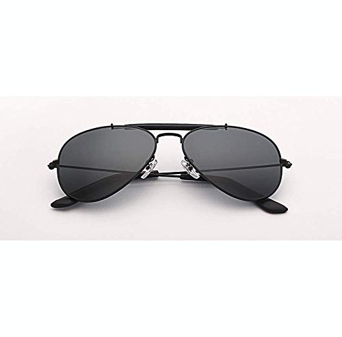 BAIF Sunglasses Outdoorsman Aviation Sunglasses Women Men 58Mm Pilot Gradient Gray Glass Lens Glasses Mirror Uv400