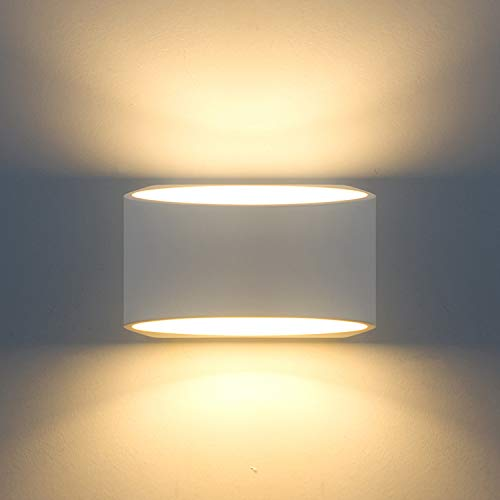 Modern Wall Sconce Lighting Fixture Lamps 7W Warm White 2700K Up and Down Indoor Plaster Wall Lamps 100V-240V for Living Room Bedroom Hallway Conservatory(with G9 Bulbs)