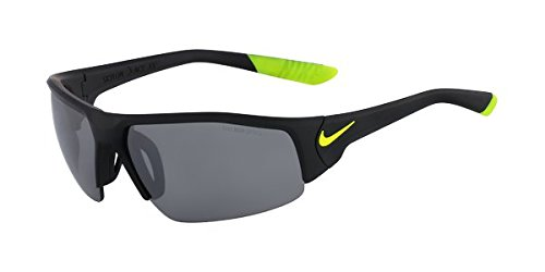 Nike EV0857-007 Skylon Ace XV Sunglasses (One Size), Matte Black/Volt, Grey with Silver Flash - Skylon Sunglasses Nike Ace