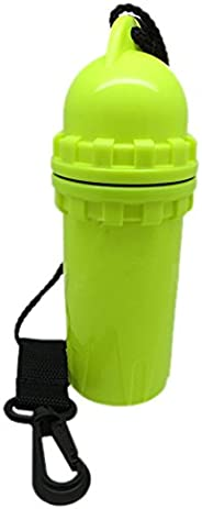 Scuba Choice Diving Snorkeling Waterproof Cylindrical Dry Box with Clip, Yellow
