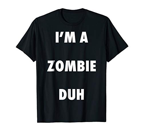 Easy Halloween Zombie Costume Shirt for Men Women -