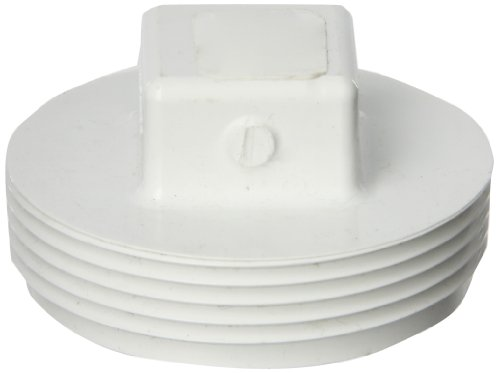 (Spears P106 Series PVC DWV Pipe Fitting, Cleanout Plug, 2-1/2