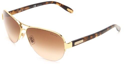 Ralph Lauren Brown Sunglasses (Ralph by Ralph Lauren 0RA4095 106/13 Aviator Sunglasses,Gold Tortoise,58)