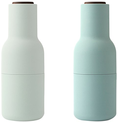 - MENU 4418869 Salt and Pepper Grinder Set With With Walnut Lid, Moss Greens