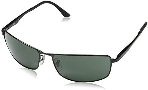 Ray-Ban Men's Rb3498 Metal Rectangular Sunglasses