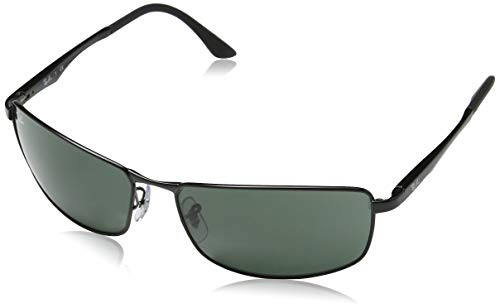 Ray-Ban Sunglasses - RB3498 / Frame- Black Lens- Green, 61 mm (Billig Ray Ban Style Sonnenbrille)