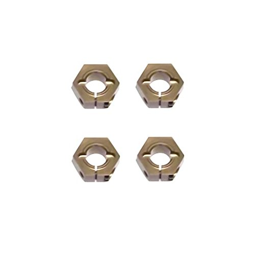 Tekno RC 1654x 12mm Aluminum Hex Adapters for M6 Drive Shafts 4