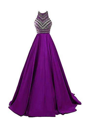 HEIMO Women's Sequins Evening Party Gowns Beading Formal Prom Dresses Long H187 16 -