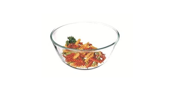 Cold Dishwasher and Microwave Safe Made in Europe Heat and Shock Resistant Borosilicate Glass Simax Glassware 1.8 Quart Glass Mixing Bowl