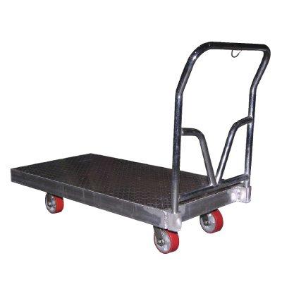 Aluminum Tread Plate Platform Truck - 48''l x 24''w x 10''h by Emedco