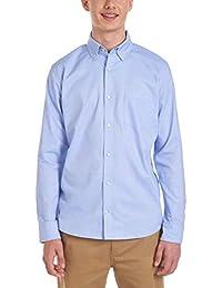 Young Men's Uniform Long Sleeve Stretch Oxford Shirt