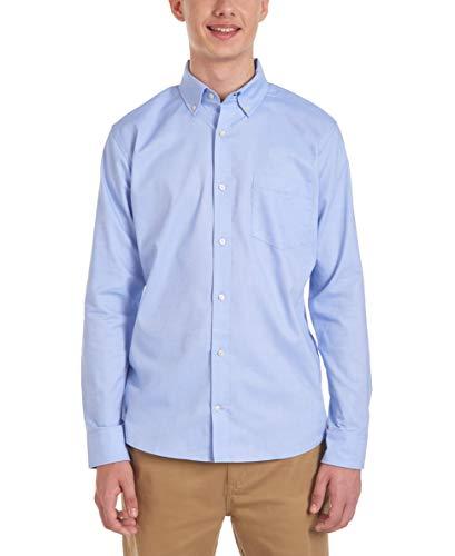 Chaps Men's Long Sleeve Oxford Shirt Shirt, Light Blue, XLarge