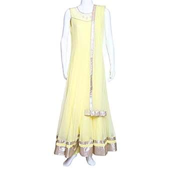 Kalaniketan Yellow Casual Anarkali Set For Women