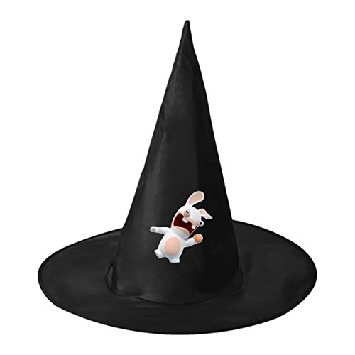 Hocus Pocus Witch Costumes Pattern (Halloween hat Rabbids Invasion Pattern Black Deluxe Witch Costume Cap for Halloween)