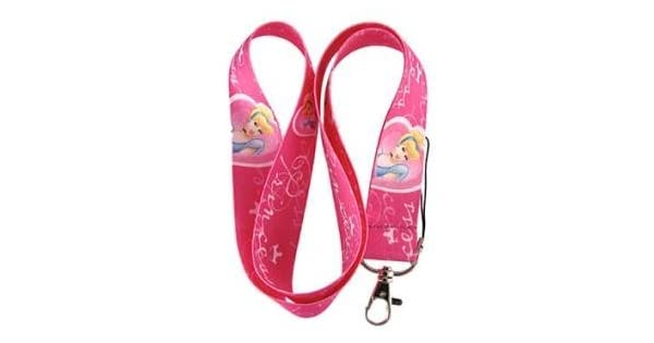 Amazon.com: Cenicienta Princesa Rosa Llavero Lanyard: Office ...