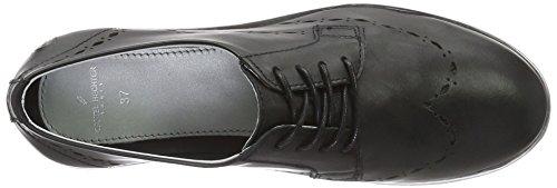 Negro Daniel Hj74091 de Zapatos Hechter Schwarz Derby 100 Cordones para Mujer nprnPqBT8