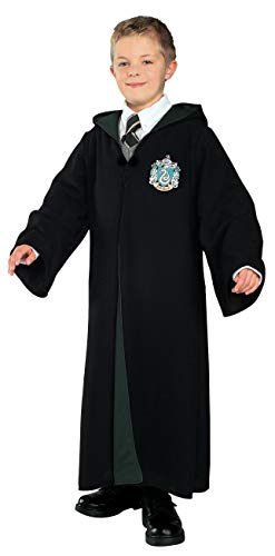 Draco Malfoy Halloween Costume (Harry Potter Child's Deluxe Slytherin Robe,)