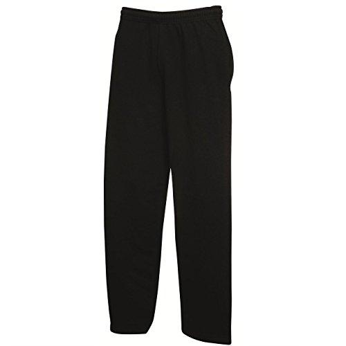 Leichte Jogginghose mit offenem Beinabschluss Farbe Schwarz Größe XL