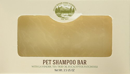 (Falls River Soap Company Flea and Tick Prevention for Dogs and Cats - Pet Shampoo Bar (3.5Oz)-Natural Handmade Organic Vegan- Cat and Dog flea and tick Control)