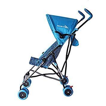 Wonder Buggy Teal Blue Skyler Jumbo Umbrella Stroller w/Rounded Hood