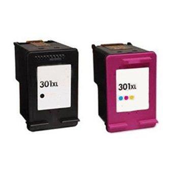 2 cartuchos de tinta de ALTA capacidad rigenerate HP 301 (Black ...