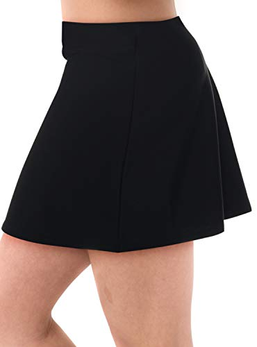 Undercover Waterwear Ladies Uv Protection Activewear Mini Swim Skirt Cover Up Available in Plus Size Too B-XS - Flair Skirt Mini