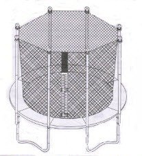 Jumpzone Trampoline Enclosure mesh Net ONLY for 13