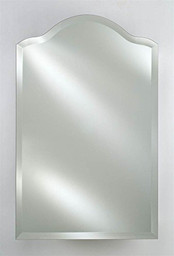 Radiance Scallop Top 1 in. Beveled Wall Mirror (Large) (Afina Scallop Top)