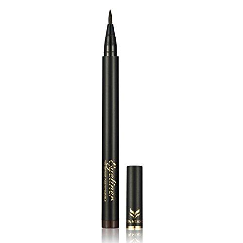 Ladygo Waterproof Liquid Eyeliner Pencil Precision Liquid Felt Tip Quick Drying Eye Liner Pen Long Lasting, Brown-2# 0.08