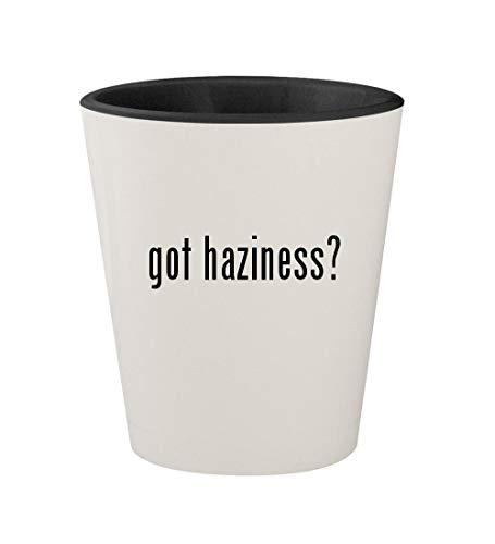 got haziness? - Ceramic White Outer & Black Inner 1.5oz Shot Glass