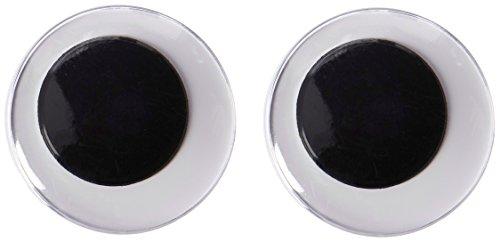 Darice 2 Piece, 40 Millimeter, Movable Paste on Eyes, Black