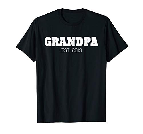 Grandpa Est 2019 New Grandpa Announcement Gift ()