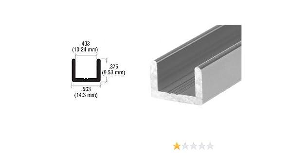 CRL Brushed Nickel Frameless Shower Door Aluminum Regular U