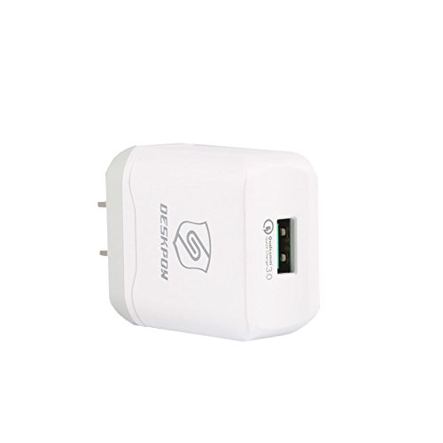 Phoneix USB Charger Quick Charge 3.0 USB Charger Adapter Wall Charger Travel Charger for iPhone Samsung #QC01 White