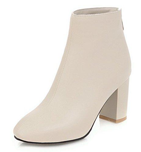 Sexy Bottines Aisun Femme Unie Low Boots Couleur a7Pwp7q