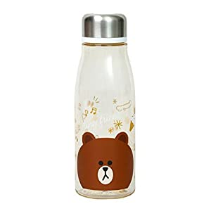 Skater LINE FRIENDS Brown Stylish Water Bottle PTY5 500ml from Japan