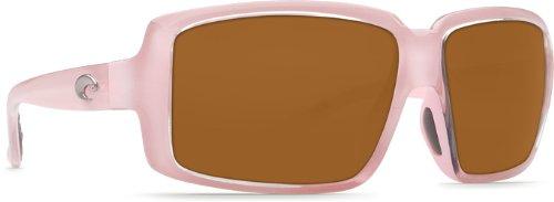 Costa Del Mar Miss Britt Women's Polarized Sunglasses, Coral/Amber 580P, Medium