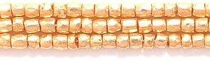 (Preciosa Ornela Czech 3-Cut Style Seed Glass Bead, Size 9/0, Metallic Gold)