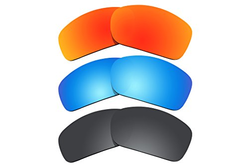 3 Pairs Pack Polarized Sunglasses Lenses Replacement for Oakley Scalpel - Replacement Oakley Scalpel Lenses