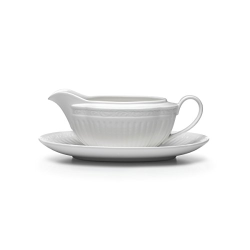 Mikasa Italian Countryside Gravy Boat and Saucer Set