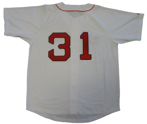 (Dave Roberts Autographed Boston Red Sox White Jersey W/PROOF, Picture of Dave Signing For Us, Boston Red Sox, 2004 World Series Champions, The Steal, San Francisco Giants, Padres, Los Angeles)