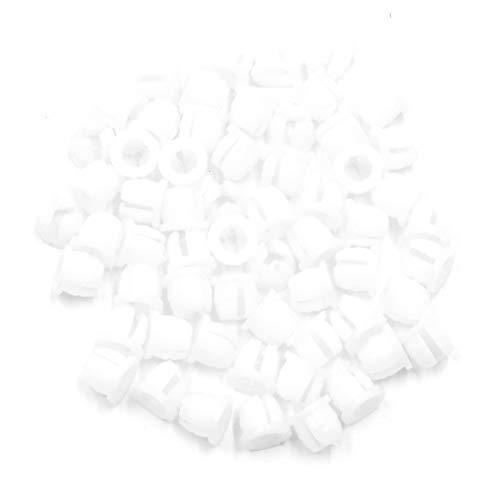 X AUTOHAUX 60pcs White Car Grille Headlight Dashboard Plastic Grommet Fastener Clip