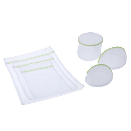 Andux Land Home Essential Laundry Mesh Wash Bag Set with Zipper (6 Pieces)- Multipurpose Travel Set - 1 Large ,1 Medium, 1 Small, 3 Bra Bags XYD-01 by Andux Land (Image #7)