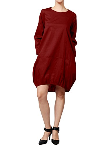 In J Pockets Lovny Elastic Delle Lovny Tasche Bottom Le Made Jlwdr78 Bozzolo Basso In Cocoon J Usa Dress Made Abito Donne bordeaux Elastico Usa Women's burgundy Jlwdr78 With Con C8Cwq45r
