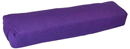YogaAccessories Pranayama Cotton Yoga Bolster - Purple